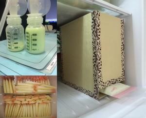 DIY : กล่องคอนโดจัดระเบียบสต๊อกนมแม่
