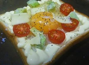 ขนมปังหน้าไข่ปรุงรสชีส