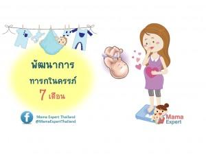 พัฒนาการทารกในครรภ์ 7 เดือน แม่ท้อง 7 เดือนลูกเป็นอย่างไร