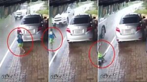 มนุษย์ป้า ขับรถชนเด็กบาดเจ็บมีคลิปมัดตัว ป้า แก้ตัวรถคนอื่นชน!!!