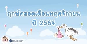 ฤกษ์คลอดเดือนพฤศจิกายน 2564 วันดี ทั้งต้นเดือน ปลายเดือน