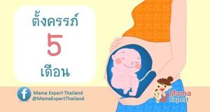ตั้งครรภ์ 5 เดือน การเปลี่ยนแปลงของแม่และพัฒนาการทารกในครรภ์