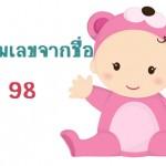 ตั้งชื่อลูก ตั้งชื่อลูกตามตัวเลข ผลรวมเลขศาสตร์จากชื่อ เท่ากับ 98 แปลผลได้ที่นี่
