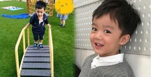 """""""น้องณดล"""" ลูกชายแม่กบ  ไปโรงเรียนแล้วครับ  หล่อเกาหลีมากๆ"""