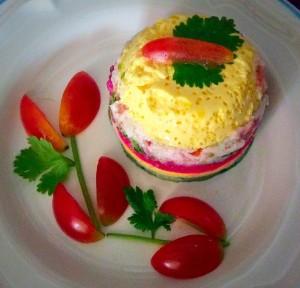 เมนูลูกรัก : ไข่ลวงโลกผักรวม